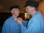 Repetitie en huldiging 2 mannen 12.5 jaar koorlid en een gift voor de cineast in het Vrondel